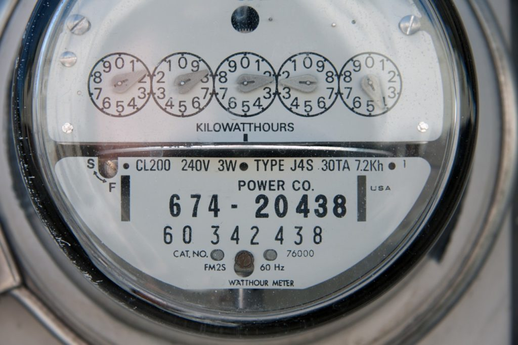 Traditional Analog Electric Meter